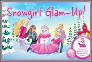 Барби лепит снеговика