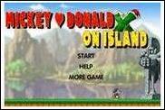 Микки и Дональд на острове