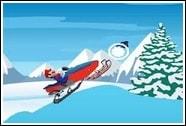 Марио на снегоходе