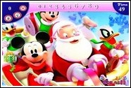 Микки и Санта Клаус