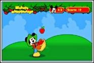 Микки ловит яблоки