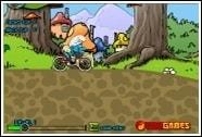 Смурфики на велосипеде